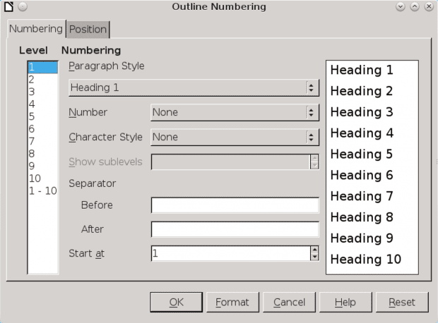 outline-numbering