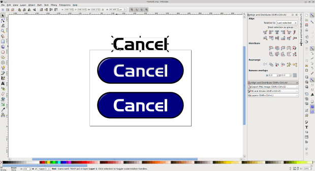 Figure 5: Using clone, changes to the original text allows you to create dozens of variations of your original design in minutes.