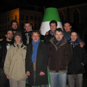 The VLC team at FOSDEM.
