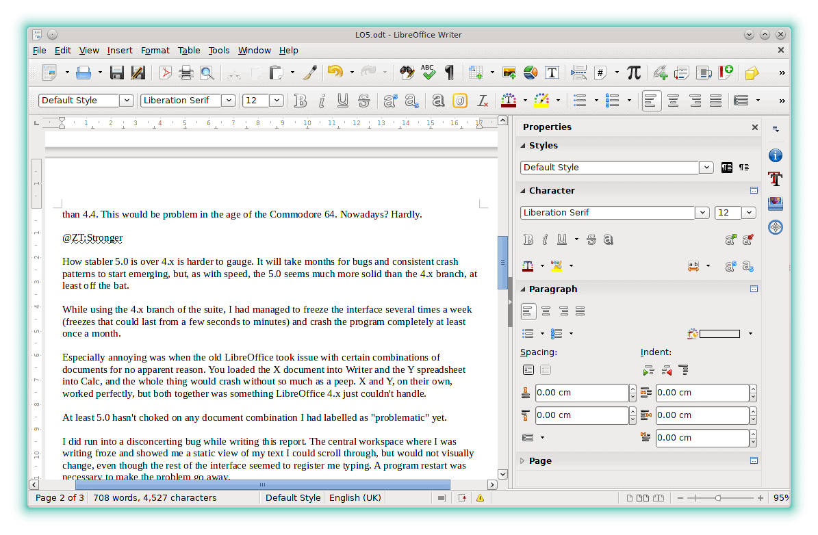 Writer and Calc, probably what you are most going to use, load about 30% quicker than in LibreOffice 4.4.