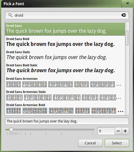 Fonts, Droid Sans
