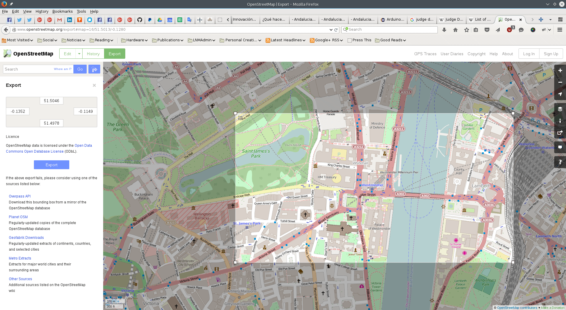 Select an area of your city from OpenStreetMap.