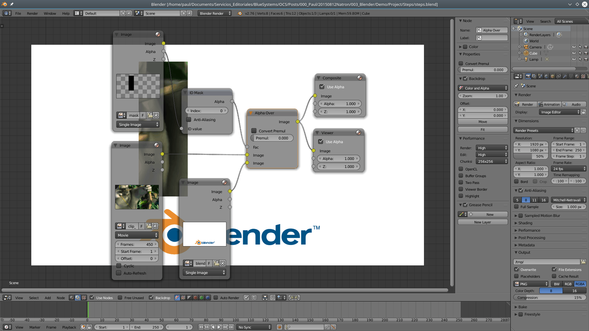 ... And that's how you apply a mask in Blender.