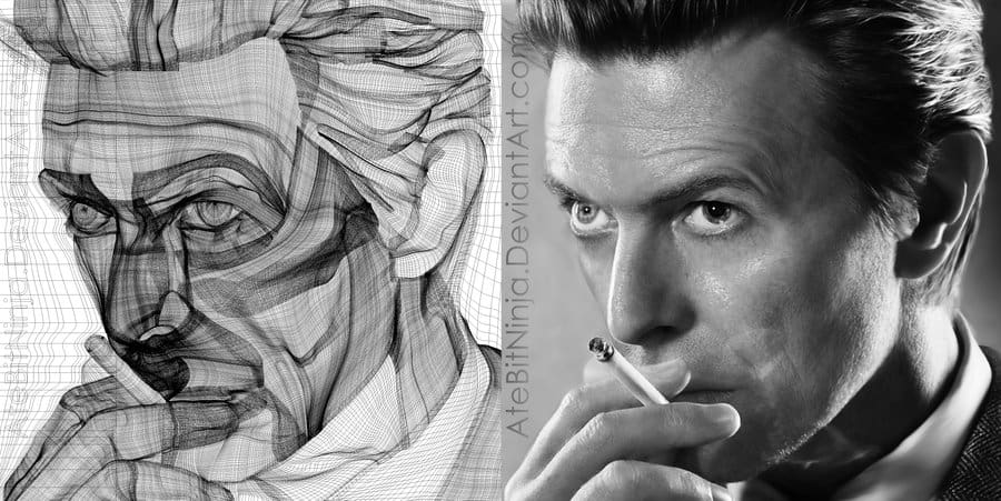 Example of mesh gradients used to create a photo-realistic portrait. The author is the amazing Dion Aoki, aka AteBitNinja [http://atebitninja.deviantart.com/].