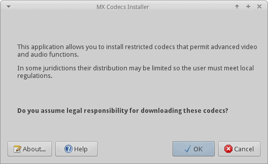 Codec downloader