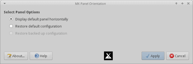 Panel orientation