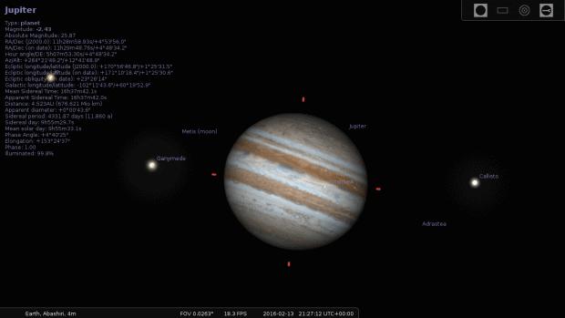 Jupiter, with details