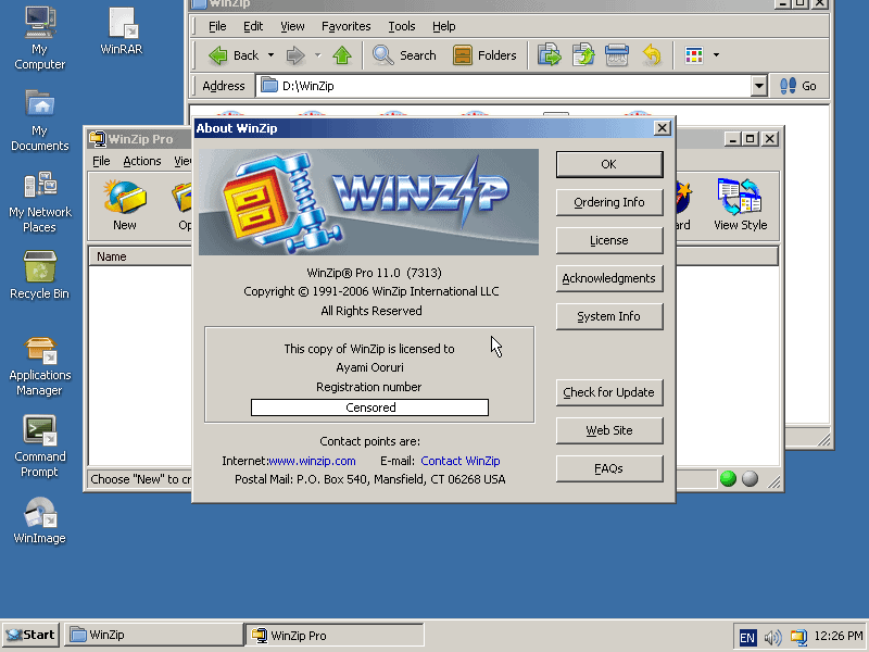 Blast from the past: WinZip running on ReactOS