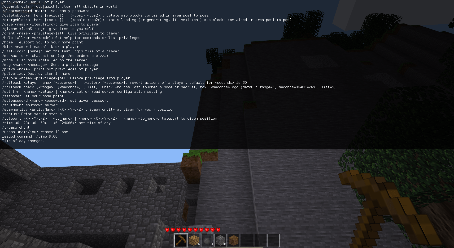 Use the HUD to send chat messages or input commands.