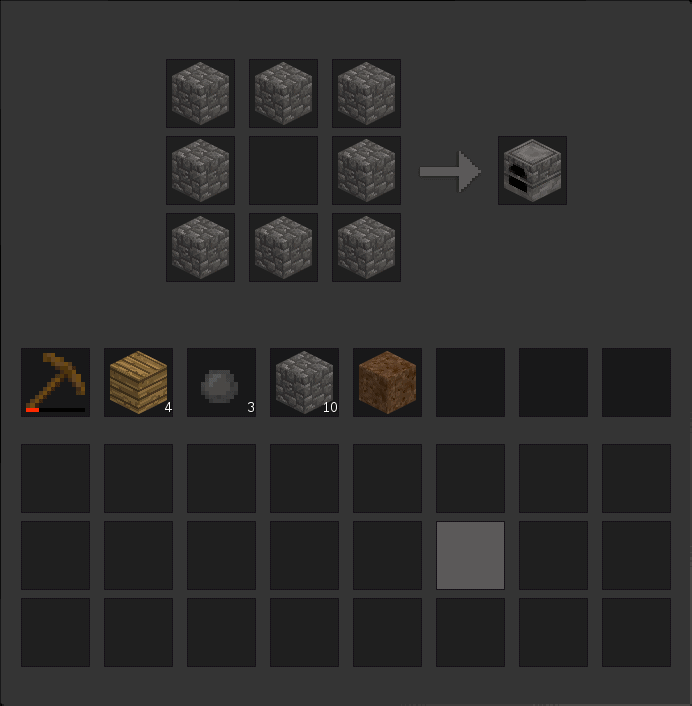 Build a furnace to smelt ore into ingots.