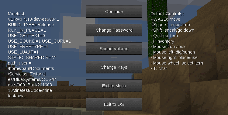 Use the user menu to change your password.