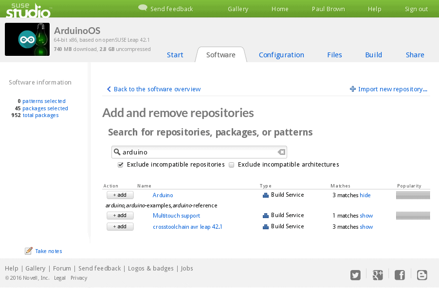 By adding more repositories, you can access more software...