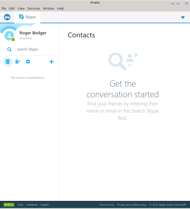 Skype added, running