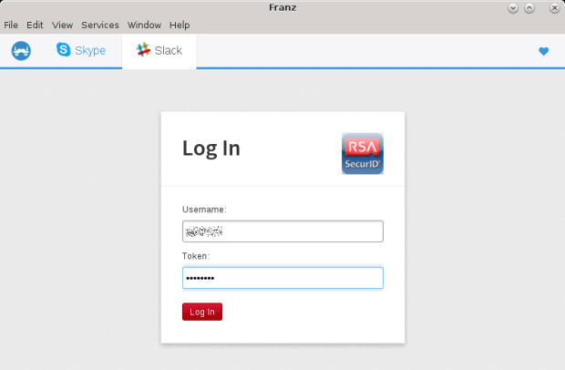 Login, RSA authentication