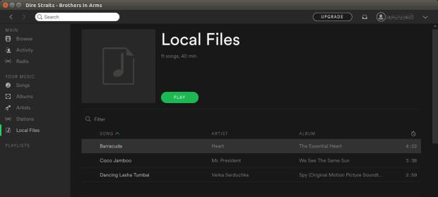 Local files