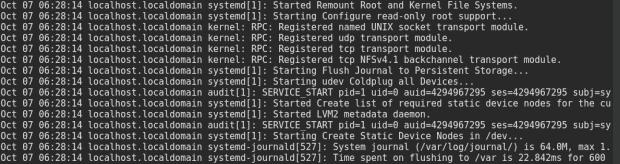 Systemd log
