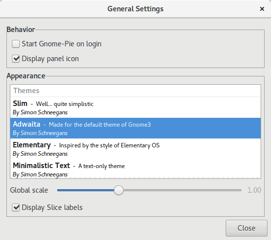 Fedora, general settings