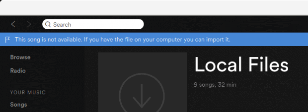 Cannot play local files