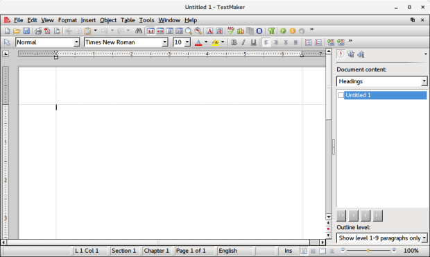 SoftMaker TextMaker, main view