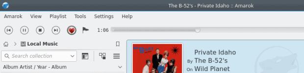 Slim toolbar