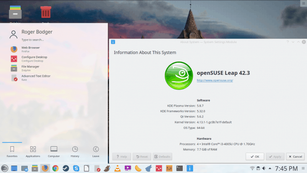 OpenSUSE, ready
