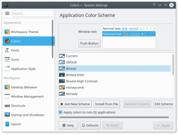 Settings 3, sidebar changes