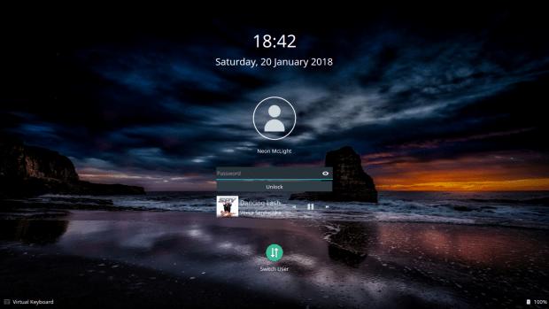 Lock screen, music