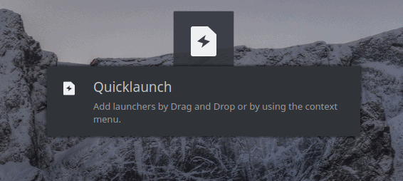 Quicklaunch, empty