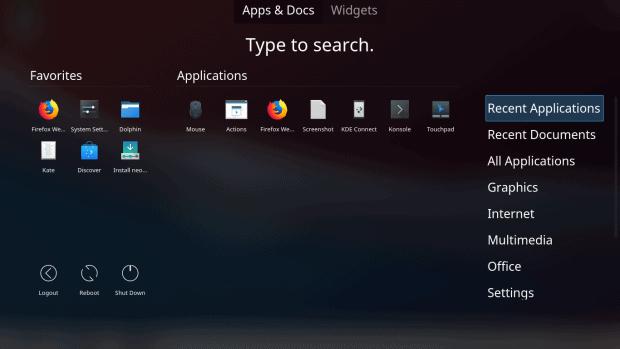Dashboard, apps