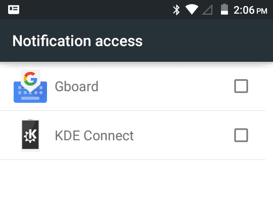 KDE Connect, permissions