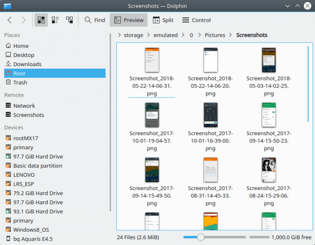KDE Connect, browse