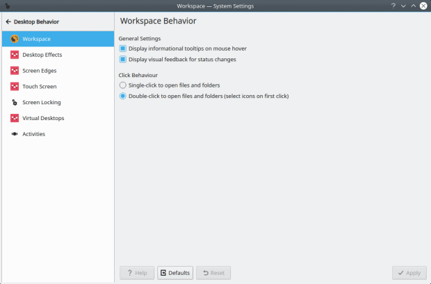 Workspace settings, non-intuitive