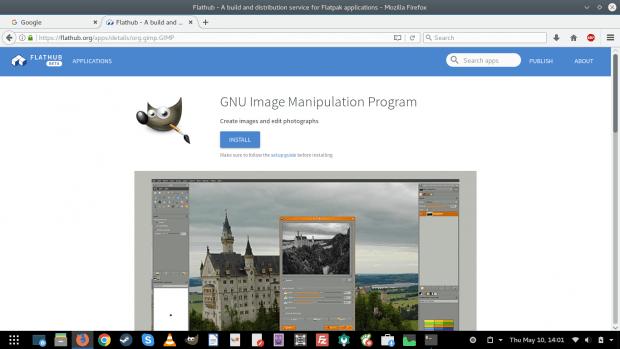 GIMP on FlatHub