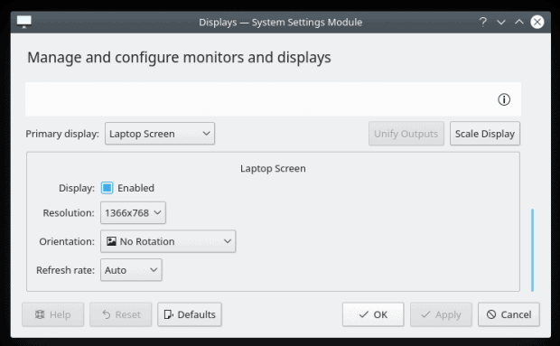 Plasma display settings