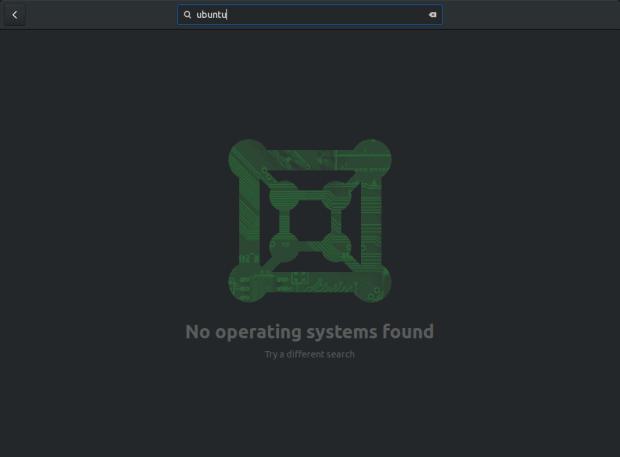 Search for Ubuntu, broken