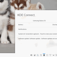KDE Connect, in sync